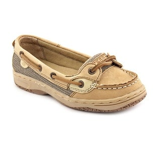 Sperry Top Sider Angelfish Youth Moc Toe Leather Beige Boat Shoe