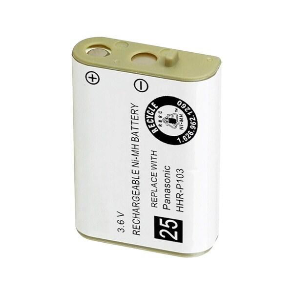 Replacement Battery For Panasonic KX-TG2382 Cordless Phones - P103 (750mAh, 3.6V, NiMH)