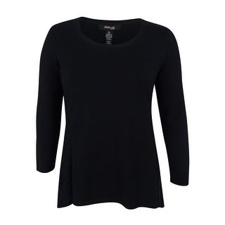 Style & Co. Women's Plus Size Pointelle Sweater