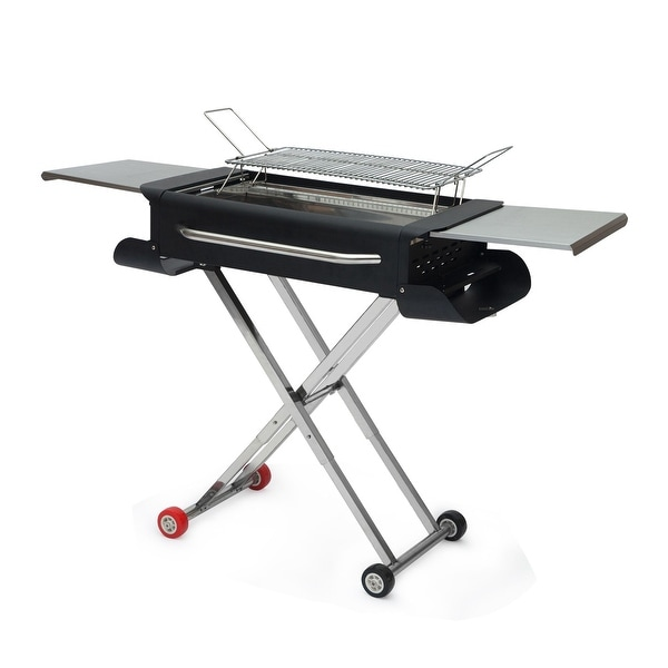 Large Stainless Steel Portable Outdoor Barbecue Grill. Opens flyout.