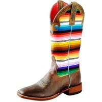 Macie Bean Western Boots Womens Lefty's Poncho Serape Brown