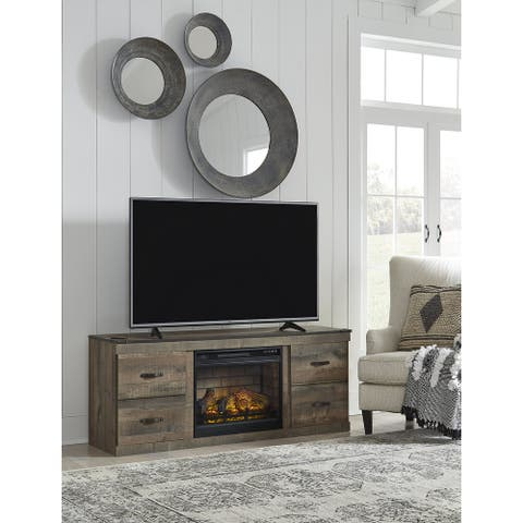 """Trinell 60"""" TV Stand with Electric Fireplace"""