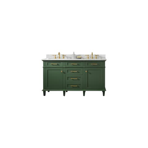 "Legion Furniture 60"" VOGUE GREEN DOUBLE SINK VANITY WLF2260D-VG"