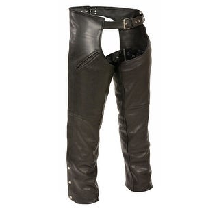 Mens Leather Slash Pocket Chaps with Thermal Liner