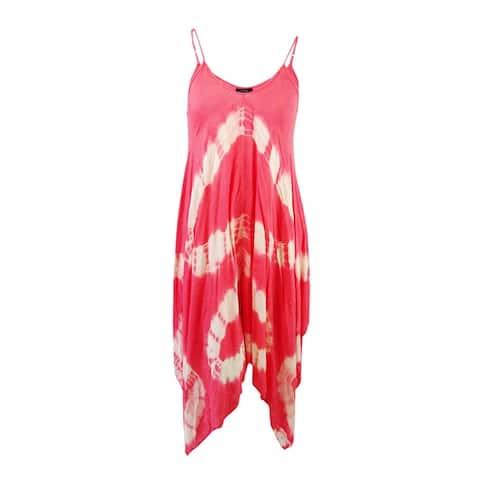 Raviya Women's Tie-Dye Handkerchief Maxi Dress Swim Cover-Up