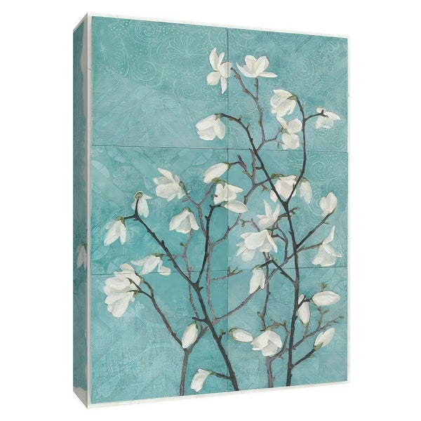 "PTM Images 9-154630 PTM Canvas Collection 10"" x 8"" - ""Magnolia Branch"" Giclee Magnolias Art Print on Canvas"