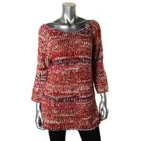 Zara Knit Womens Pullover Sweater Wool Blend Boatneck