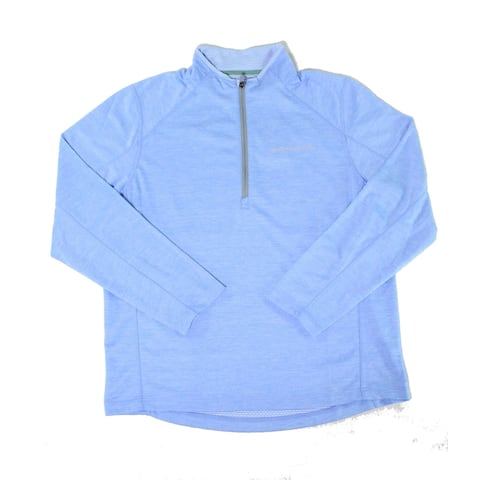 Vineyard Vines Mens Sweaters Sea Blue Size XL 1/2 Zip Regular-Fit