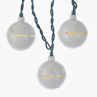 Set of 10 Cloud Gray Star Wars Movie Themed Death Star Space Station Light Set 12'