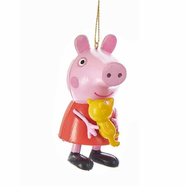 Peppa Pig Blow Mold Christmas Ornament Peppa With Teddy Bear