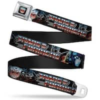 Transformers Autobot Logo Full Color Black Blue Red Fade Transformers Seatbelt Belt