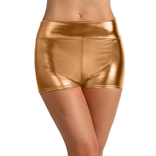 NE PEOPLE Womens Sexy Lightweight Stretch Metallic Short Hot Pants