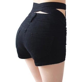 Hollow Out Black Skinny High Waist Shorts Summer Women White Slim Sexy Denim Shorts Plus Size Short Jeans feminino