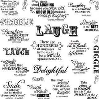 "Laugh With Me - Fiskars Quote Clear Stamps 8""X8"" Sheet Fiskars"