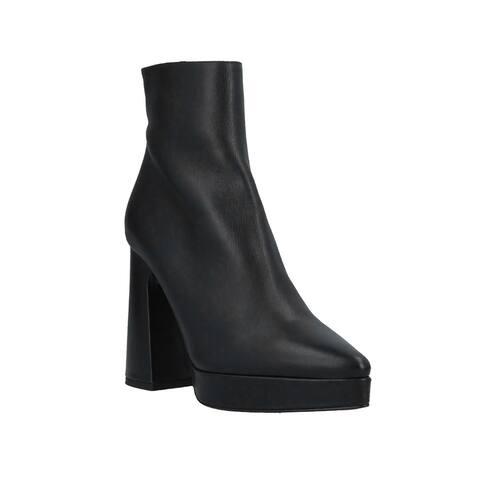 Proenza Schouler Women's Leather Platform Ankle Boots Black