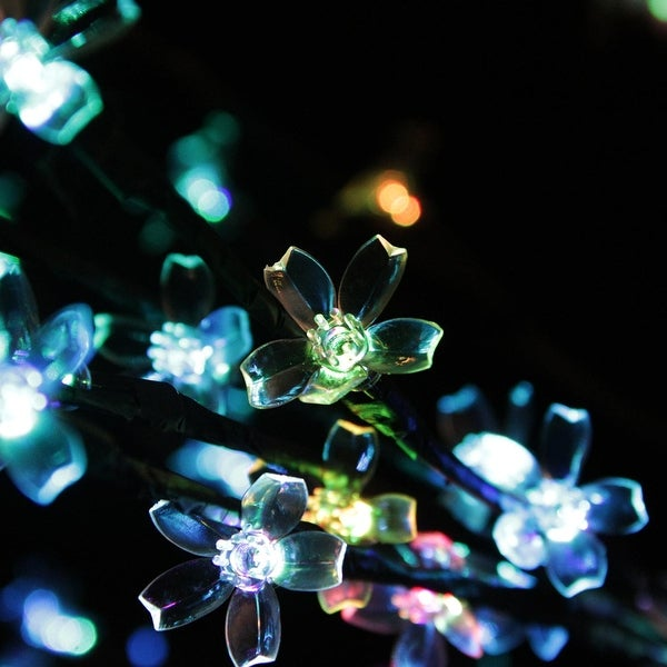 8' LED Lighted Commercial Cherry Blossom Flower Tree - Multi Color-Changing Lights