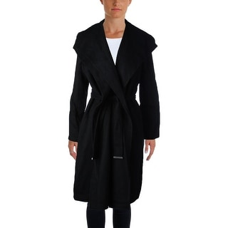 Vince Womens Coat Wool Long Sleeves