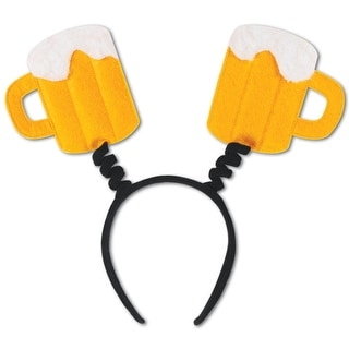 Club Pack of 12 Frosty Beer Mug Bopper Headband Party Favors