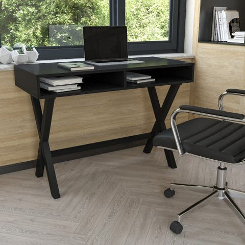 Home Office Writing Computer Desk with Open Storage - Table Desk
