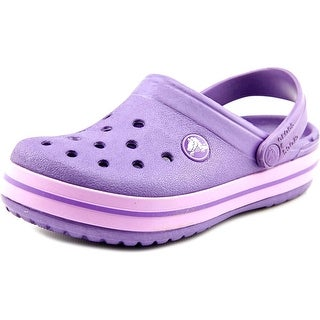 Crocs Crocband Toddler Round Toe Synthetic Purple Clogs