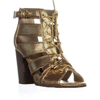 I35 Portlyn Lace Up Sandals, Gold - 8.5 us