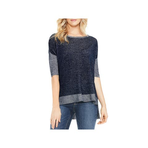 Vince Camuto Womens Pullover Sweater Knit Boxy
