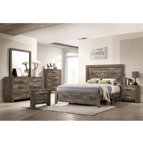 Furniture of America Justinna Rustic Natural Tone 6-piece Bedroom Set