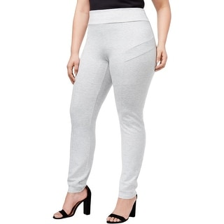 NY Collection Womens Plus Pants Ponte Knit Petite
