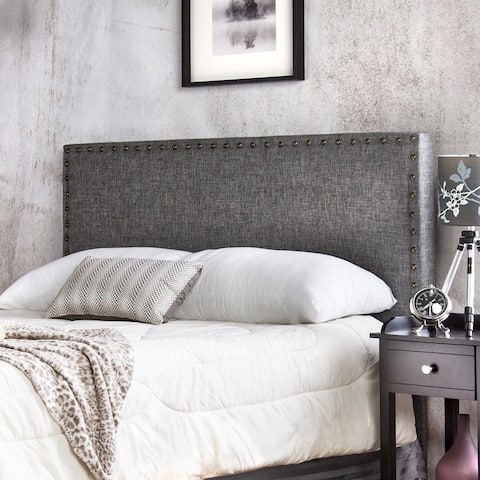 Furniture of America Loto Contemporary Flax Fabric Padded Headboard