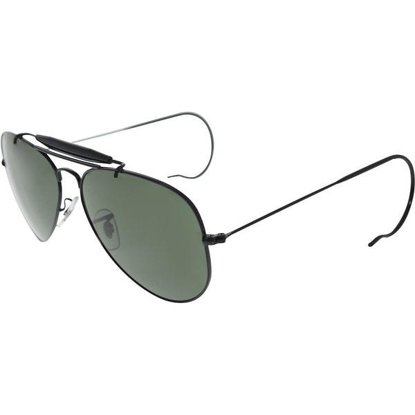 dce8eab3a6 Shop Ray-Ban Men s Outdoorsman RB3030-L9500-58 Black Aviator ...