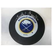 Signed Perrealt Gilbert Buffalo Sabres Buffalo Sabres Hockey Puck autographed