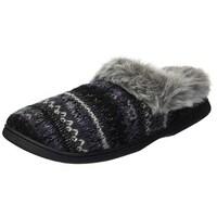 298794d7d Shop Dearfoams Women's Textured Knit Clog Slipper with Pile Cuff ...
