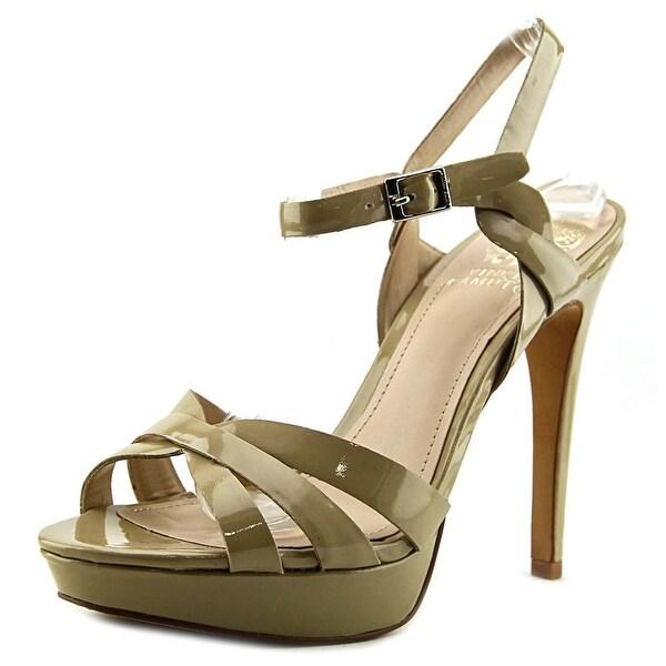 Vince Camuto Jessamae Women Open Toe Patent Leather Nude Platform Sandal