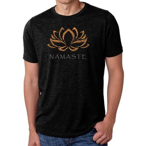 Men's Premium Blend Word Art T-shirt - Namaste
