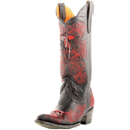 Gameday Boots Womens College Texas Tech Mask Rider Black