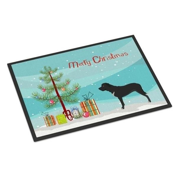 Carolines Treasures BB8490MAT Broholmer Danish Mastiff Christmas Indoor or Outdoor Mat - 18 x 27 in.