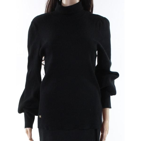 Lauren By Ralph Lauren Black Womens Size Large L Turtleneck Sweater