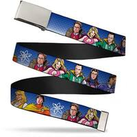 Blank Chrome  Buckle The Big Bang Theory Superhero Characters Group Web Belt