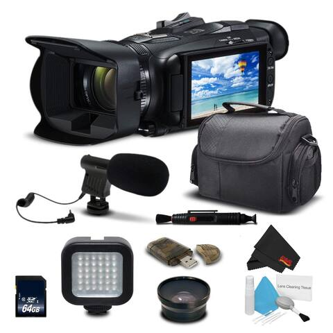 Canon VIXIA HF G21 Full HD Camcorder 2404C002 With Wide angle Lens, Carrying Case, Led Light, Memory Card + More