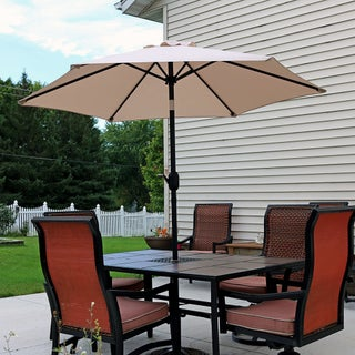 Sunnydaze Patio Market Umbrella w/ Tilt & Crank 7.5ft Aluminum - Multiple Colors