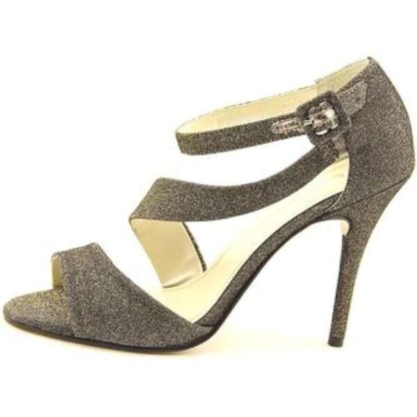 Caparros Womens karissa Open Toe Formal Ankle Strap Sandals, mushroom, Size 10.0