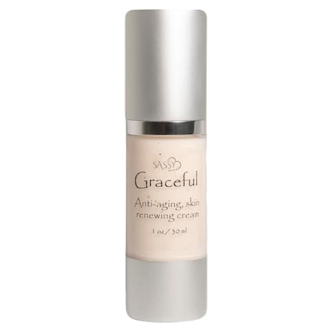 Sassy Skin Care Graceful Anti-Aging and Renewing Skin Cream - Antioxidants for All Types of Skin - Herbs Included, 1 Oz - 30 mL