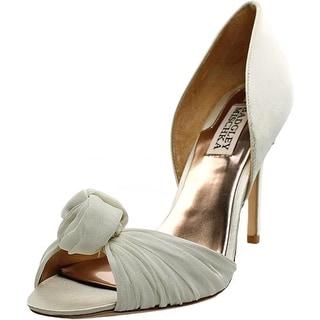 Badgley Mischka Musica Women  Open Toe Canvas Ivory Sandals