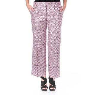 Elizabeth and James Womens Carson Casual Pants Tile Jacquard