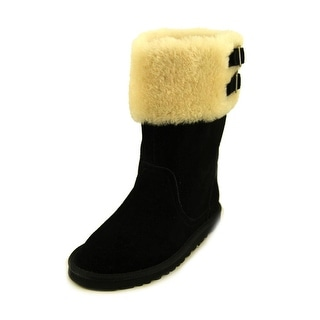 Ugg Australia Aleyah Youth Round Toe Suede Black Winter Boot