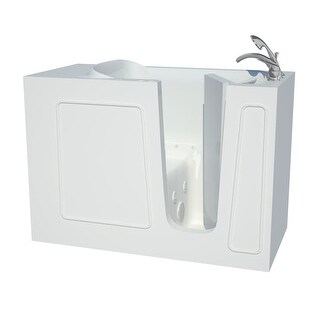 """Avano B2653RD Architect Series 52-3/4"""" Gel Coated Air / Whirlpool Bathtub for Alcove Installations with Right Drain, Roman Tub"""