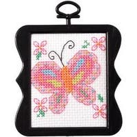 "3""X3"" 14 Count - Beginner Minis Butterfly Counted Cross Stitch Kit"