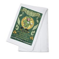 Leprechaun Irish Pub - Vintage Sign - LP Artwork (100% Cotton Towel Absorbent)