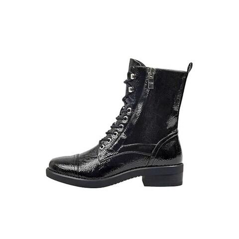 Marc Fisher Womens Ulessa2 Closed Toe Mid-Calf Combat Boots - 8.5