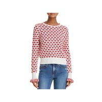 French Connection Womens Kiss Pullover Sweater Crewneck Graphic